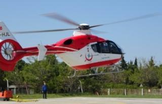 Tarla sahibi ambulans helikopterin inmesine izin vermedi