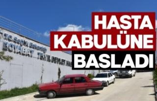 Boyabat Devlet Hastanesi hasta kabulüne başladı