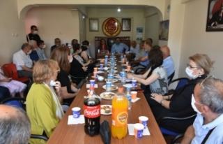 CHP Sinop il yönetiminden yeni ilçe başkanı Hasan...