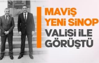 Maviş, yeni Sinop Valisi ile görüştü