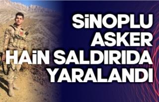 Sinoplu asker bombalı saldırıda ağır yaralandı