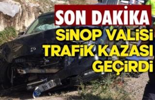 Sinop Valisi trafik kazası geçirdi !