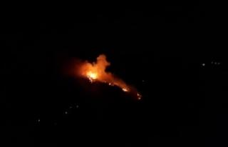 Durağan'da orman yangını yeniden alevlendi...