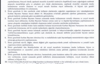 Sinop il genelinde yemekli organizasyonlar yasaklandı