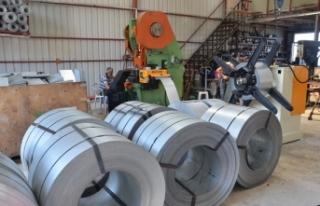 Sinop'tan Azerbaycan'a metal kiremit ihracı...