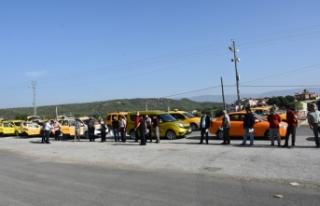 Boyabat'ta toplu taşıma araçları, yazıhane...