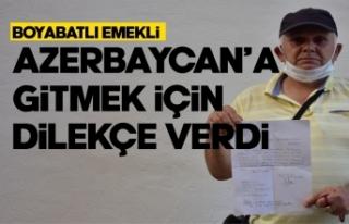 Boyabatlı memur Azerbaycan'a gönüllü gitmek...