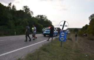 Trafik kazası 1 yaralı !