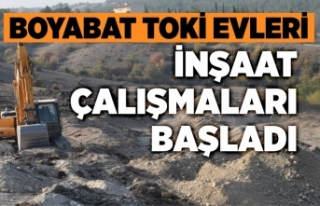 Boyabat'ta TOKİ konutları inşaat çalışmaları...