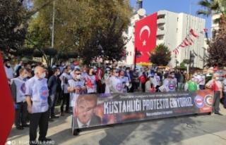 Sinop'tan, Macron'a tekbirli protesto