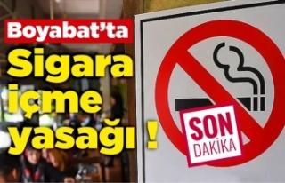 Boyabat'ta sigara yasağı,İşte yasaklı...