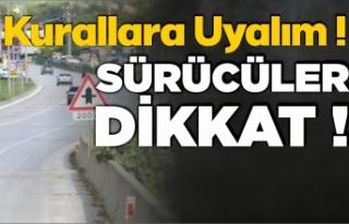 Boyabat'ta trafik kazalarını önlemek için...
