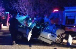 Boyabat'ta trafik kazası 1 kişi hayatını kaybetti...