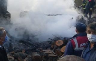 Köyde yangın çıktı 1 kişi hayatını kaybetti...