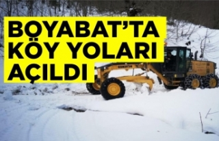 Boyabat'ta kapalı köy yolu kalmadı