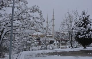 Boyabat ilçesinde kar yağışı nedeniyle 43 köyün...