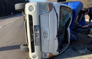 Boyabat'ta trafik kazası 2 yaralı