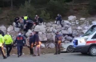 Boyabat Kastamonu yolunda kaza 1 ölü, 1 yaralı...