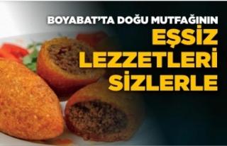 Boyabat'ta doğu mutfağının eşsiz lezzetleri...