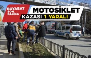 Boyabat'ta motosiklet kazası 1 yaralı !
