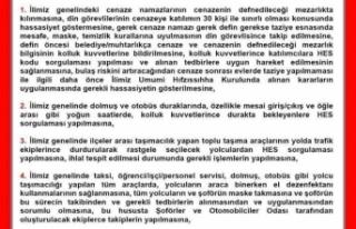 Sinop İl Hıfzısıhha Kurulu Olağanüstü Kararı...