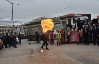 Boyabat'ta çocuklara özel ramazan sokak gösterileri...