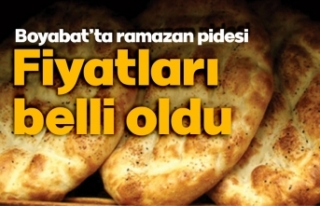 Boyabat'ta ramazan pidesi fiyatları belli oldu
