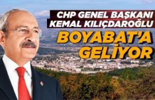 Kemal Kılıçdaroğlu yarın Boyabat esnafını ziyaret...