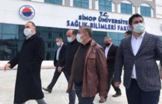Nazım Maviş stad ve üniversite kampüsünde incelemelerde...