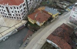 Boyabat'ta Çeltik fabrikası yıkım çalışmaları...