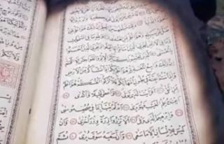 Sinop'ta yanan evdeki Kur'an-ı Kerim'in...