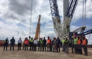 Boyabat Rüzgar Enerji Santrali inşaatı tüm hızıyla...