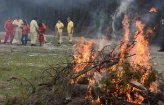 Boyabat'ta orman yangını eğitimi