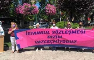 Sinop'ta CHP'li kadınlar İstanbul Sözleşmesi...