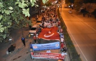 Boyabat'ta 15 Temmuz Yürüyüşü ve Demokrasi...