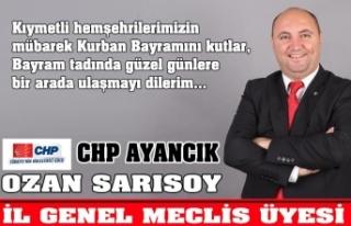 Ozan Sarısoy '' Kurban Bayramınız mübarek...