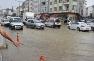 Boyabat'ta metrekareye 76,6 kilogram yağış düştü