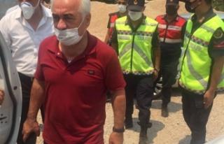Mehmet Ersoy yangın bölgesinde