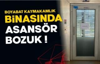 Boyabat Kaymakamlık binasında asansör bozuk vatandaş...