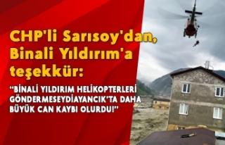 CHP'li Sarısoy'dan, Binali Yıldırım'a...