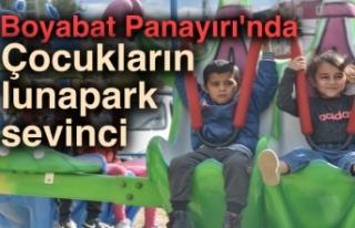 Boyabat Panayırı'nda çocukların lunapark...