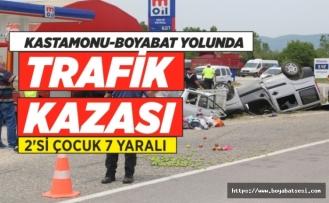 Kastamonu Boyabat Yolunda Trafik Kazası 7 Yaralı
