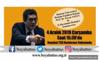 Prof. Dr. Özcan YAĞCI Boyabat'a geliyor