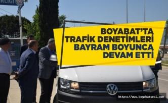 Boyabat'ta Trafik Denetimleri Bayram Boyunca Devam Etti
