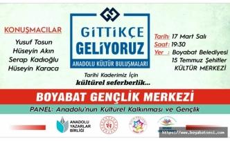 """Boyabat'ta """"Anadolu'nun Kültürel Kalkınması ve Gençlik"""" Paneli"""