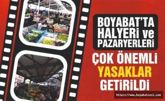 Boyabat'ta kurulan pazar yerleri için çok önemli kararlar !