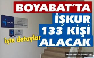 Boyabat'ta 133 kişiye iş imkanı