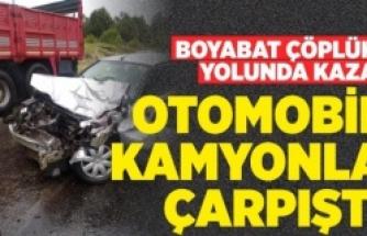 Boyabat Çöplük Yolunda Trafik Kazası !