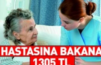 Hastasına ve Engelli Yakınına Bakana 1305 TL