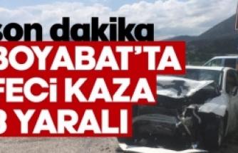 Boyabat'ta trafik kazası 3 yaralı